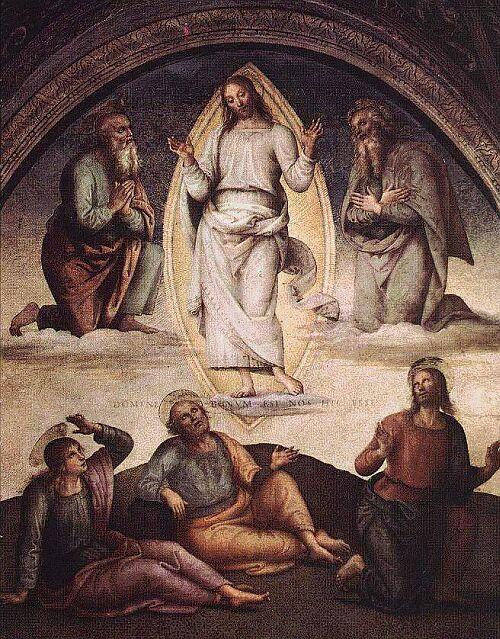 La Trasfigurazione, di Pietro Perugino, 1498, Collegio del Cambio, Perugia dans immagini sacre 393-la-trasfigurazione-di-pietro-perugino-1498-collegio-del-cambio-perugia